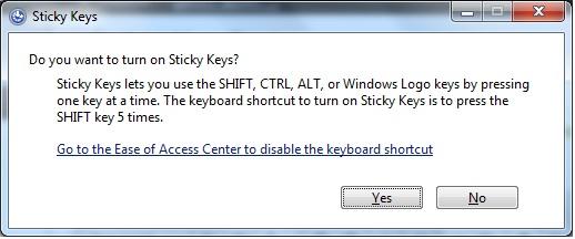 disable sticky keys forever