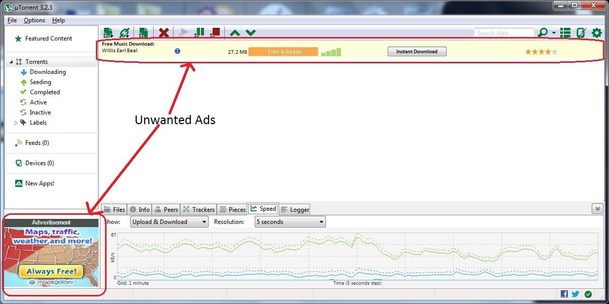 Installing µTorrent
