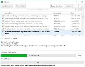 TED 3.8 - Download Screen